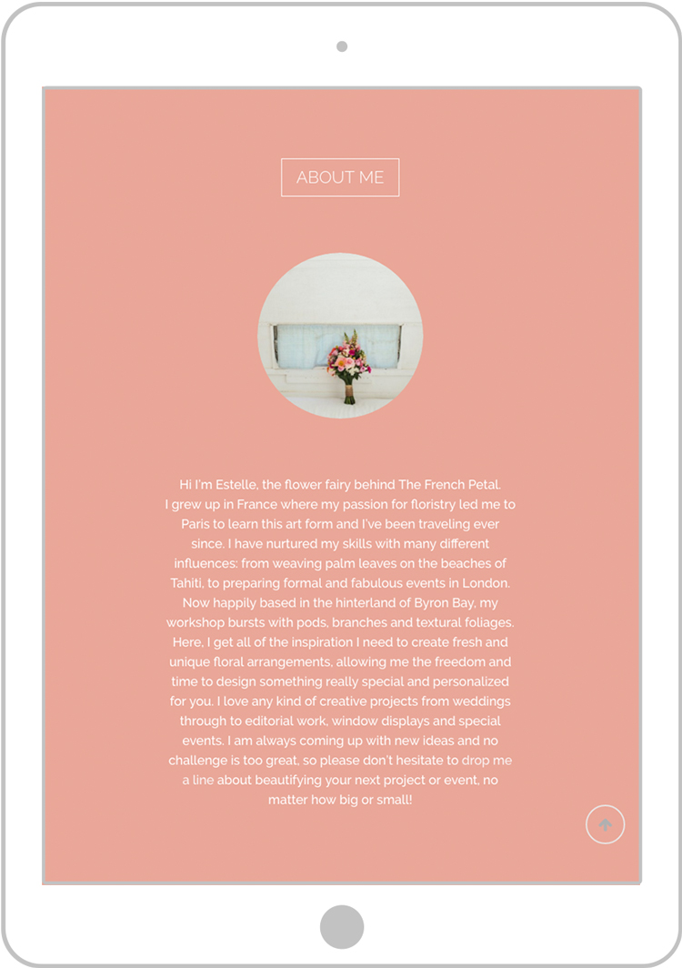 Art Direction and Branding for the florist The French Petal. By Pacifica agency in Byron Bay.