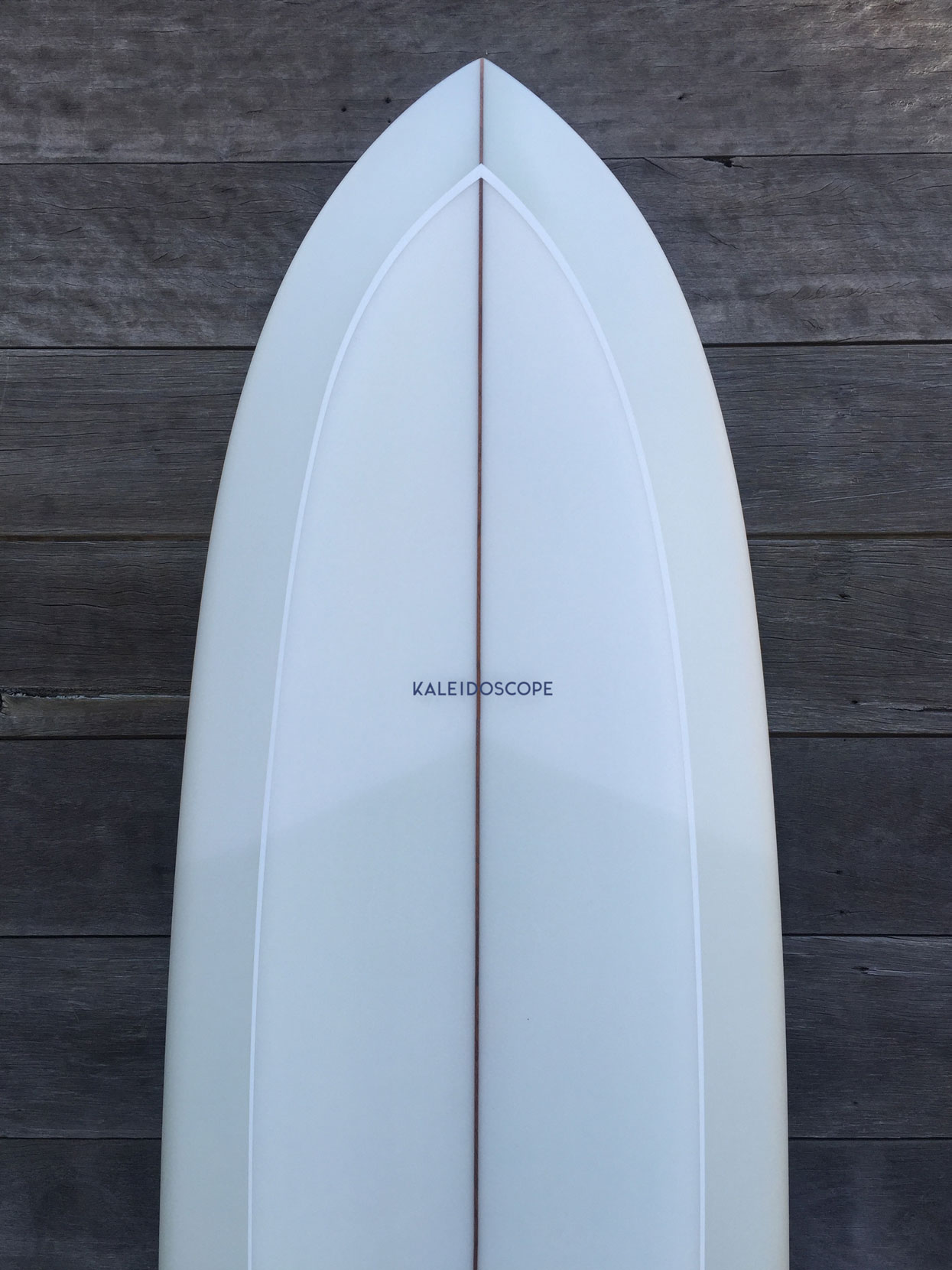 Kaleidoscope Surfboards logo on board - Strategy, Art Direction, Branding, Graphic & Digital Design Advertising Graphic Design Pacifica agency Byron Bay